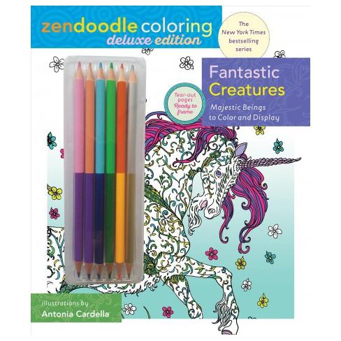 Fantastic Creatures Zendoodle Coloring : With Pencils (Deluxe ...