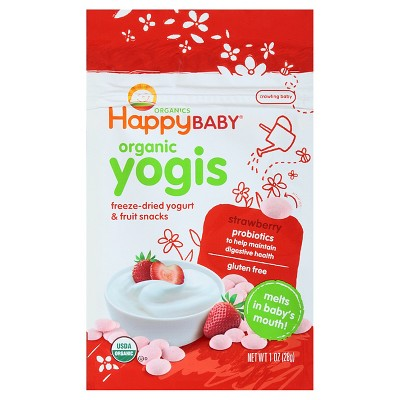 Happy Yogis Fruit And Vegetable Snacks Baby Food Strawberries - 1oz
