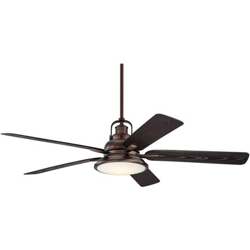 60 Casa Vieja Industrial Indoor Outdoor Ceiling Fan With Light Led Dimmable Remote Control Oil Brushed Bronze Wet Rated For Patio Porch Target