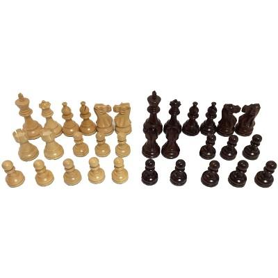"3.75"" Rosewood Classic Staunton Chessmen Board Game"