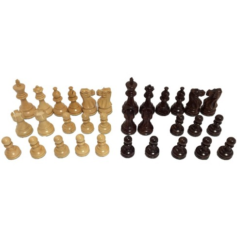 "3.75"" Rosewood Classic Staunton Chessmen Board Game - image 1 of 2"