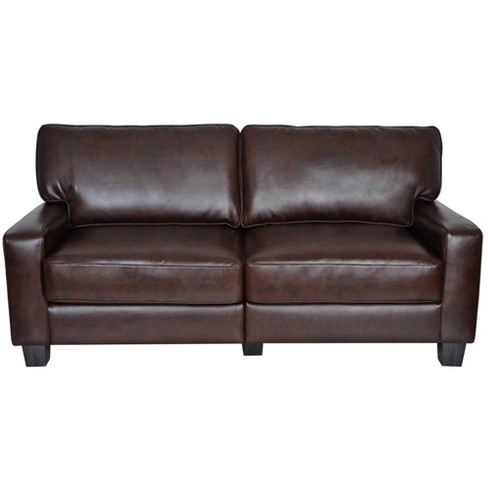 Serta Rta Palisades Collection 78 Sofa In Chestnut Brown Cr43595p