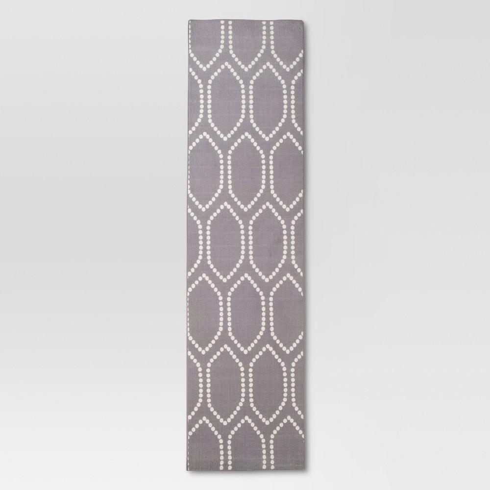Dot Tile Runner Gray