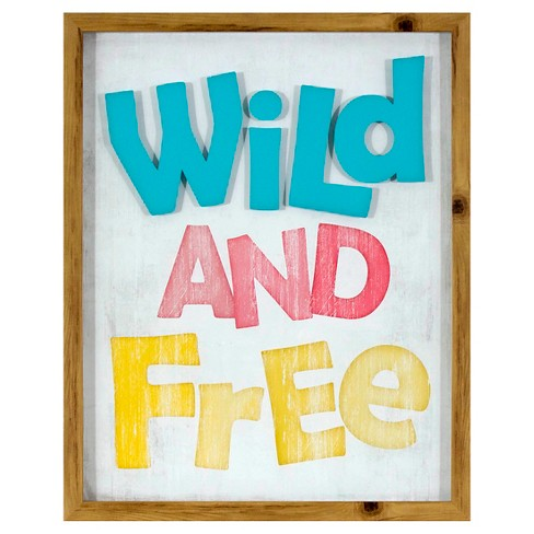 Wild and Free Screen Printed Glass Art - Pillowfort™ - image 1 of 3