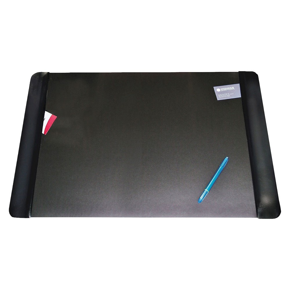 Artistic Executive Desk Pad with Leather- Like Side Panels - Black