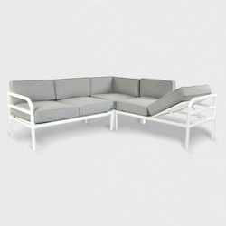 Beacon Hill Patio Sectional with Chaise Feature Gray/White - Project 62™