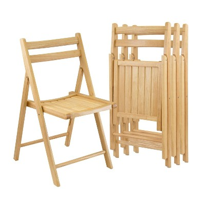 4pc Folding Chairs - Winsome