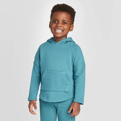Toddler Boys' Pieced Ottoman Sweatshirt - art class™ Teal 4T