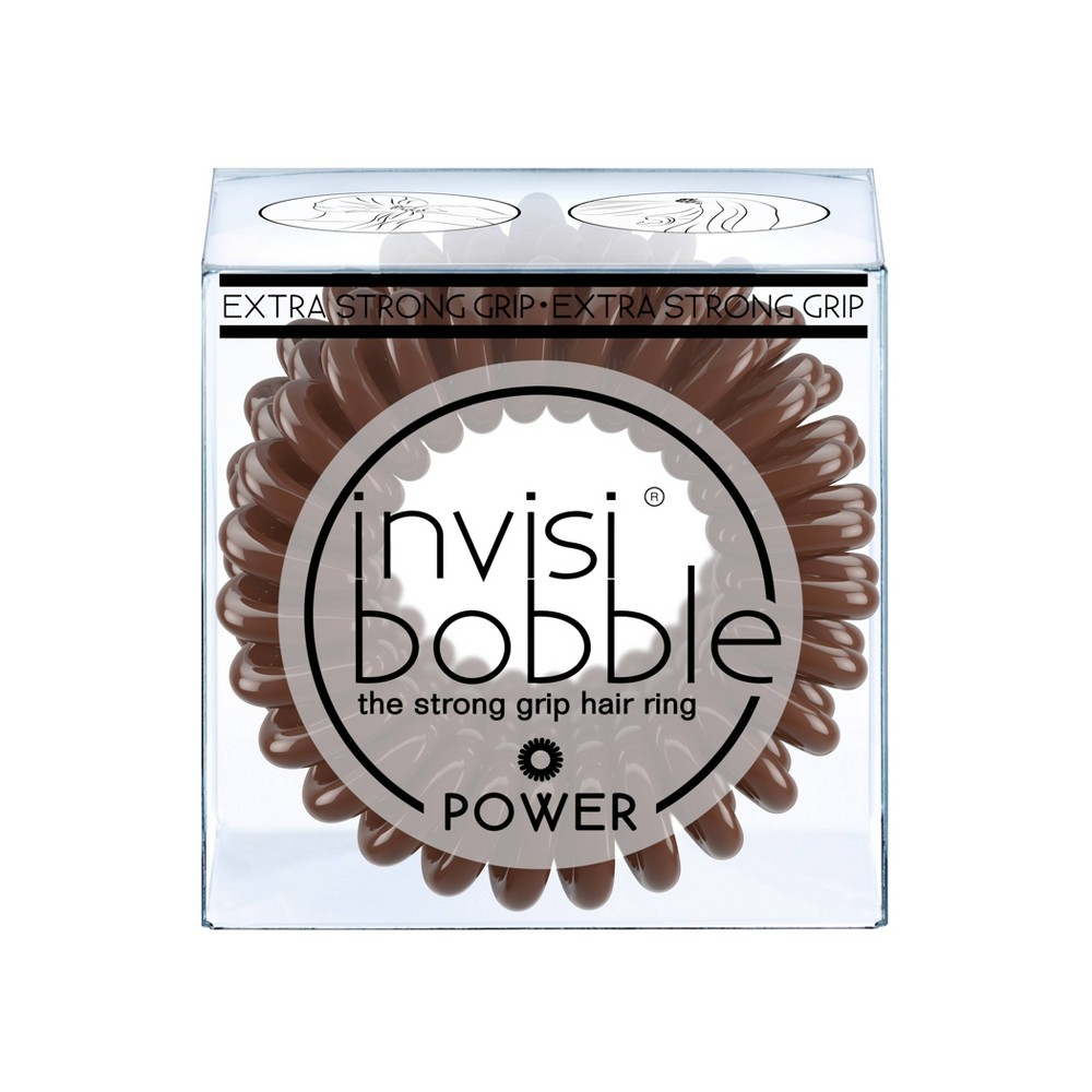 Image of Invisibobble Power Hair Elastics - Pretzel Brown