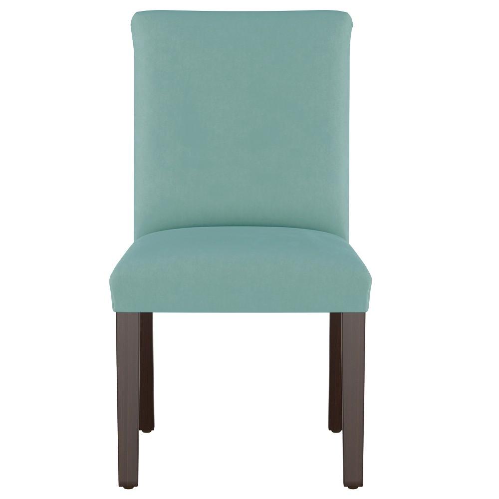 Luisa Pleated Dining Chair Teal Velvet - Cloth & Co.