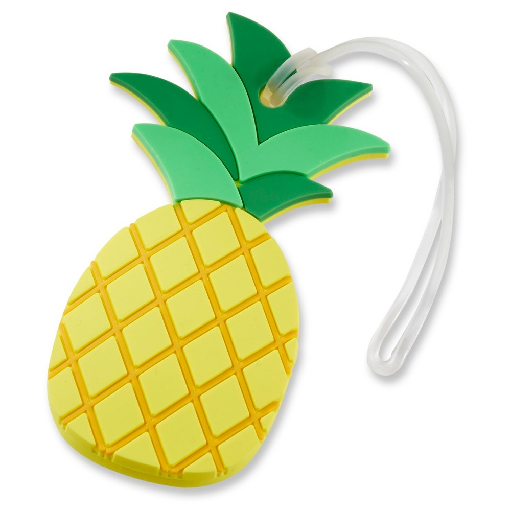 Image of 6ct Kate Aspen Pineapple Luggage Tag, MultiColored