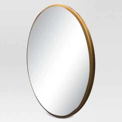 ef0d498ac8f Round Decorative Wall Mirror Brass - Project 62™   Target