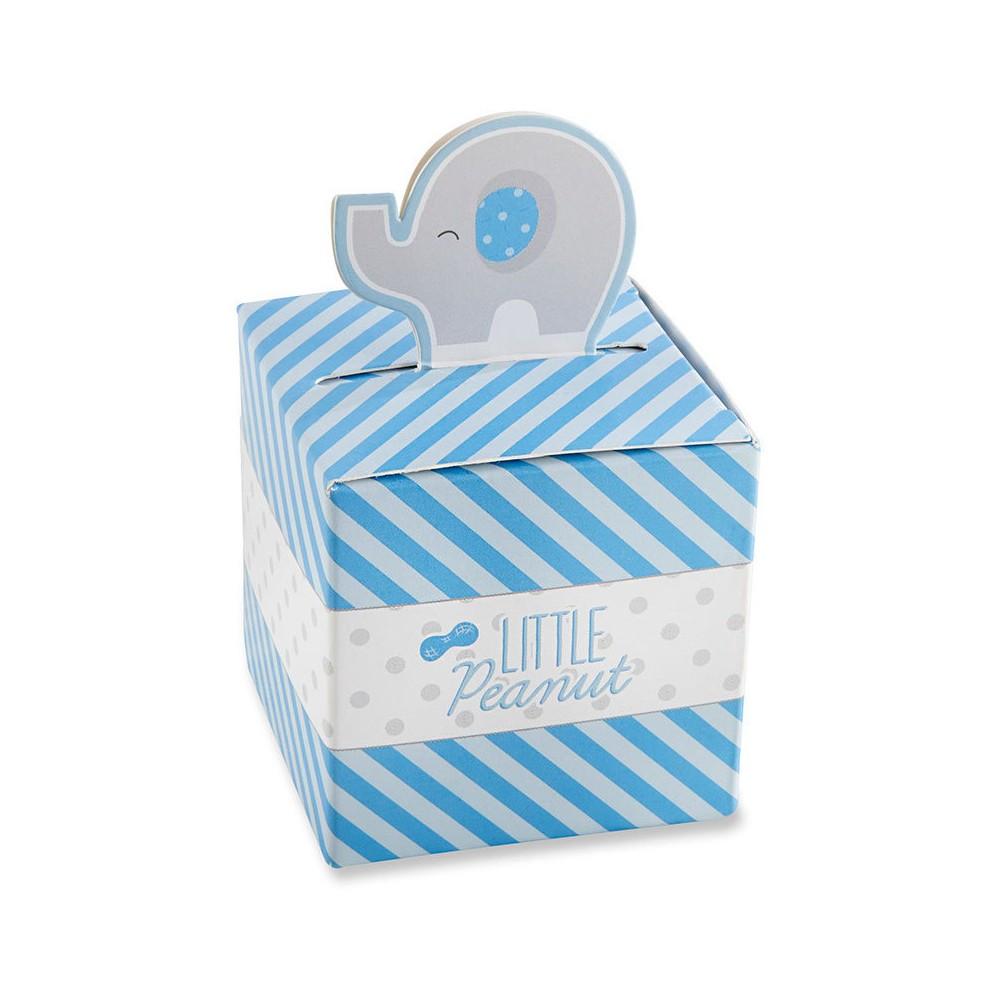 24ct Kate Aspen Little Peanut Elephant Favor Box - Blue, Multi-Colored