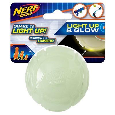"""NERF Led Lightneing Glow Ball Dog Toy - 2.5"""""""