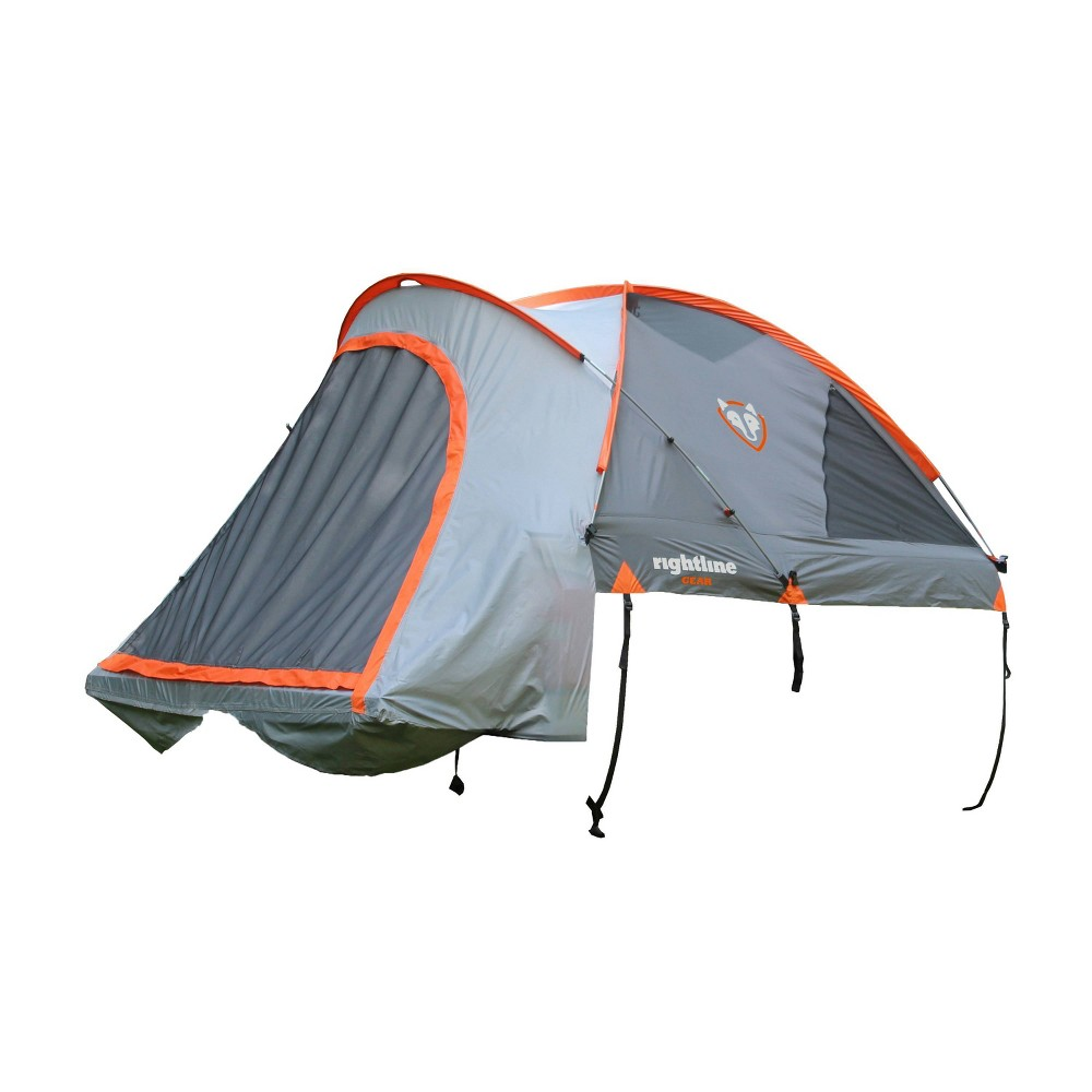 Image of Rightline Gear 5.5' Full Size Short Bed Truck Tent - Gray, Orange Gray