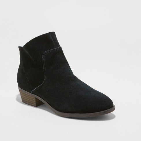 d2475c801dac Women s Dedra Suede Metallic Leather Fashion Ankle Boots - Universal  Thread™   Target