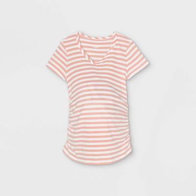Short Sleeve V-Neck Side Shirred Maternity T-Shirt - Isabel Maternity by Ingrid & Isabel™