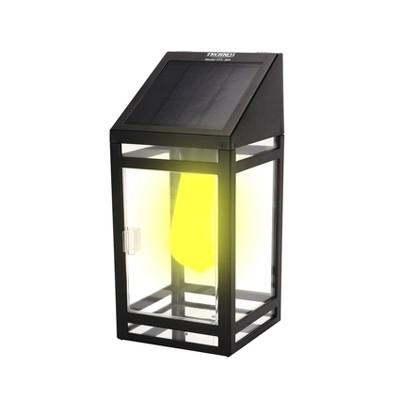 "10.47"" LED Solar Wall Outdoor Lantern Amber/White - Techko Maid"