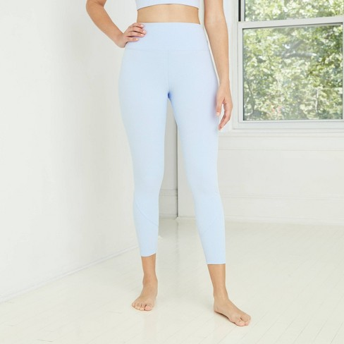 Women's High-Waisted Ribbed 7/8 Leggings - JoyLab™ - image 1 of 2