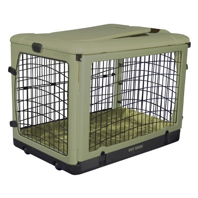 "Dog Gear ""The Other Door"" Steel Dog & Cat Crate - 42"" - Sage"