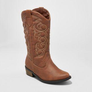 Girls' Meadow Western Boot - Cat & Jack™ Brown 13