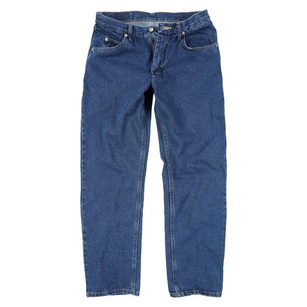 Wrangler Men's Tall Regular Fit Jeans Dark Denim Wash 38X38