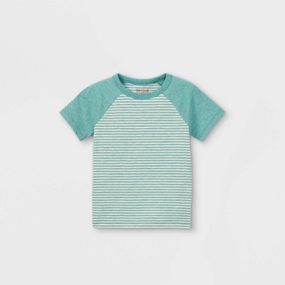 Toddler Boys' Striped Short Sleeve T-Shirt - Cat & Jack™ Green