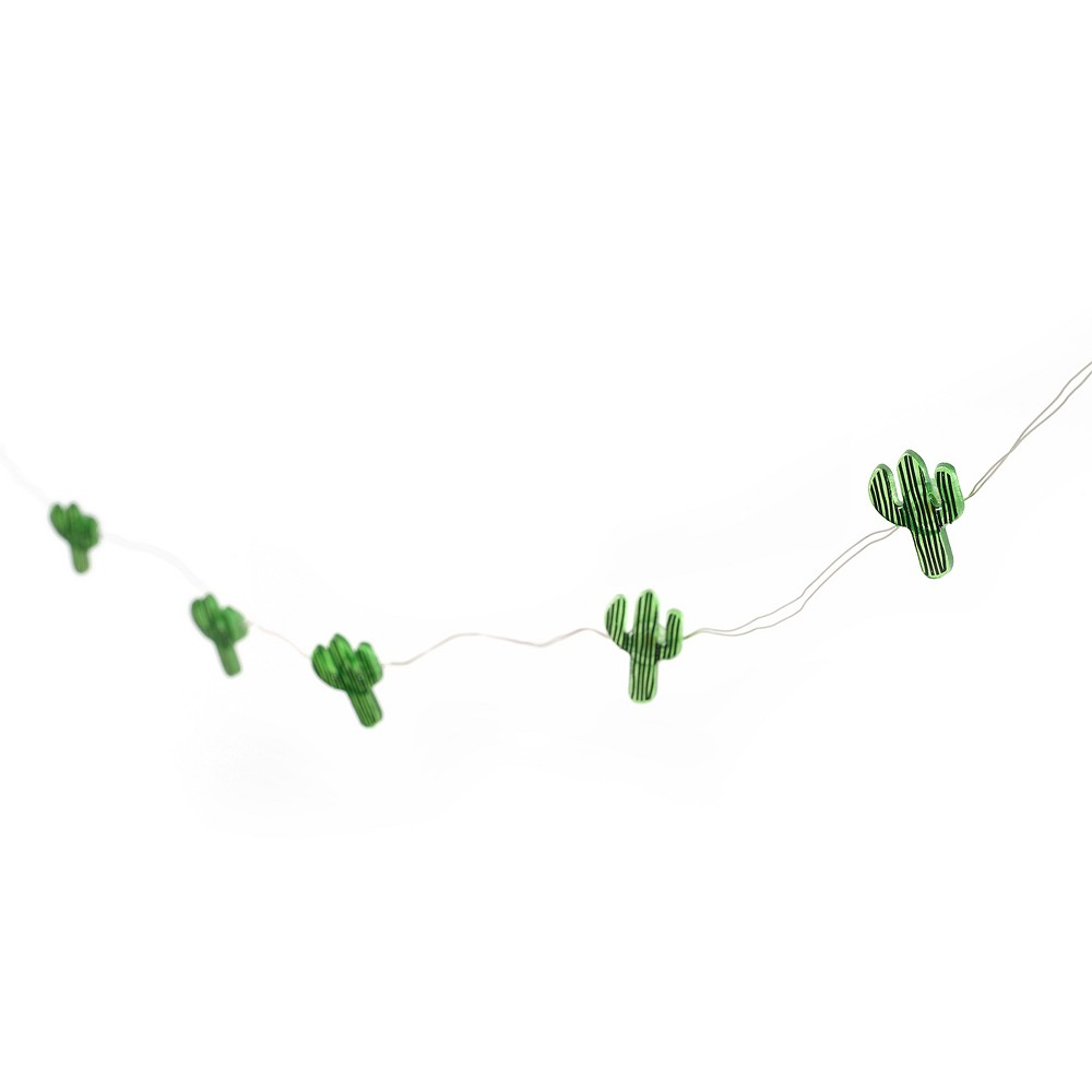 Fairy LED Cactus String Lights Green - Room Essentials