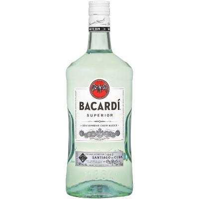 Bacardi Superior Light Puerto Rican Rum - 1.75L Bottle
