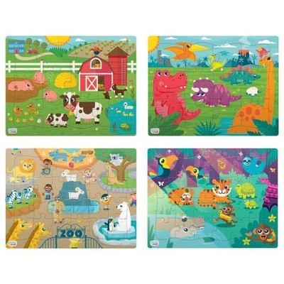 Chuckle & Roar Tray Puzzles - 4pk