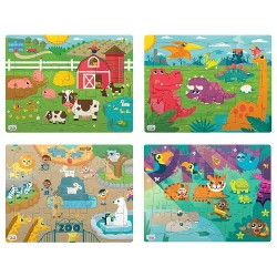 Chuckle & Roar 4pk of Tray Puzzles 72pc