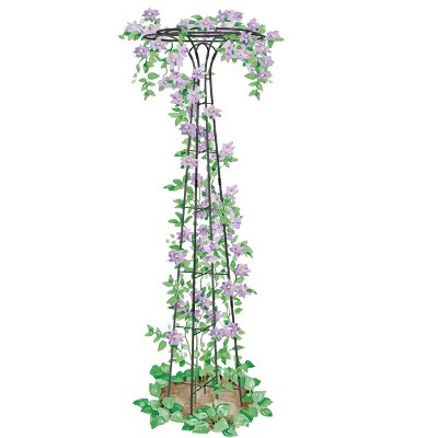 """Essex Garden Trellis 63"""" Tall for Climbing Vegetables and Flowers, Decorative Flower Support - Gardener's Supply Company"""