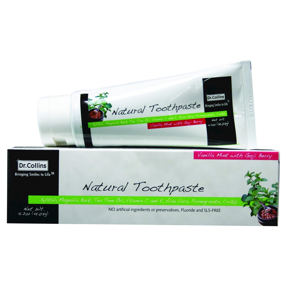 Dr. Collins Natural Toothpaste - 4.2 oz, Vanilla Mint