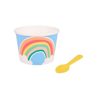 10ct Rainbow Cup with Spoon - Sun Squad™