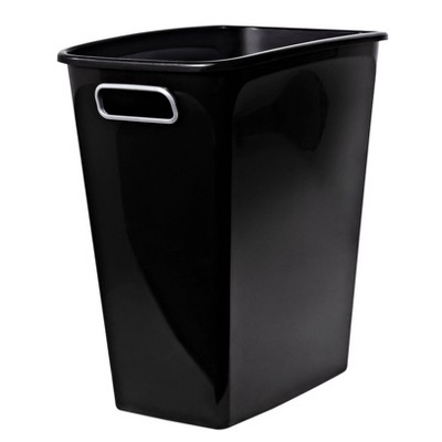 8 Gallon Open Top Wastebasket - Black - Room Essentials