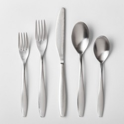 20pc Curved Satin Stainless Steel Silverware Set - Project 62™