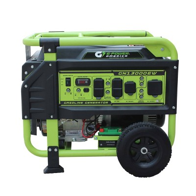 Green-Power 13000w/10000w Gasoline Powered Electric Start GN13000EW Portable Generator