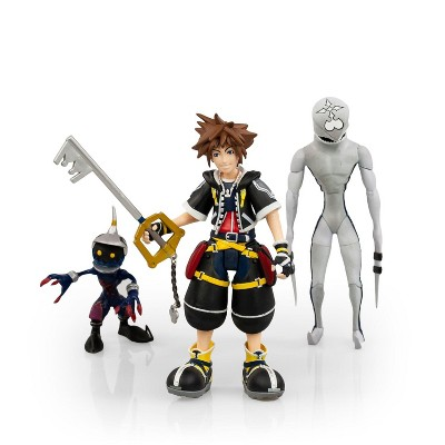 Diamond Comic Distributors, Inc. Kingdom Hearts 2 Action Figures Collection Set | Includes Sora, Dusk, & Soldier