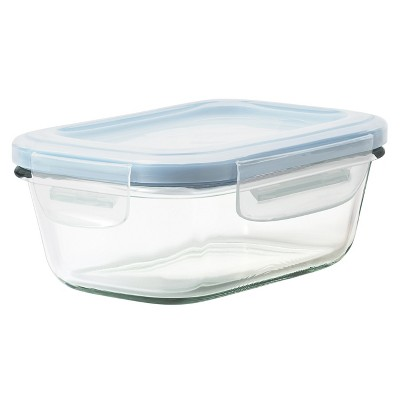 OXO 1.6 Cup Glass Food Storage Container Blue