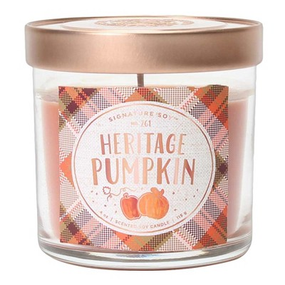 4oz Small Lidded Jar Candle Heritage Pumpkin - Signature Soy