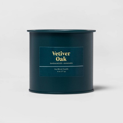 6oz Tin Jar Vetiver Oak Candle - Threshold™