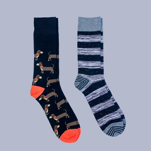 71942eb0468b7 Men's All Over Dogs Dress Socks 2pk - Goodfellow & Co™ Black 6-12 ...