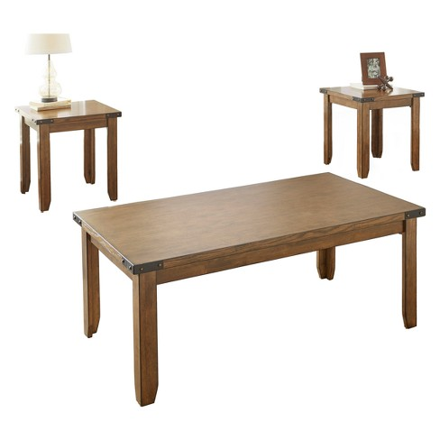 Chester Occasional 3pk Antiqued Oak - Steve Silver - image 1 of 2