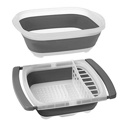 Prepworks by Progressive Collapsible Portable Sets (Large Tub and Dish Rack)