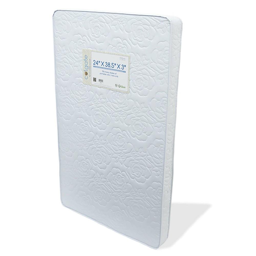 Image of Colgate Mattress Mini Crib Mattress for portable or non-standard cribs, White