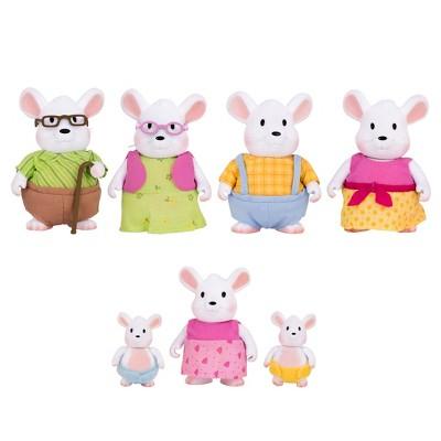 Li'l Woodzeez Miniature Animal Figurine Set - Nibblekin Mouse Family