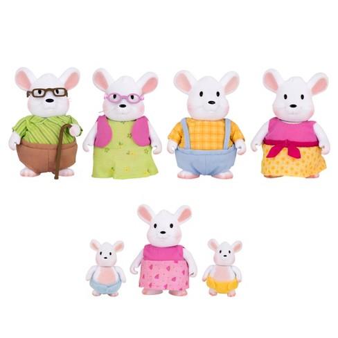 Li'l Woodzeez Miniature Animal Figurine Set - Nibblekin Mouse Family - image 1 of 3