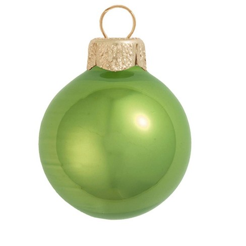 Northlight 4ct Pearl Glass Ball Christmas Ornament Set 4 75 Lime