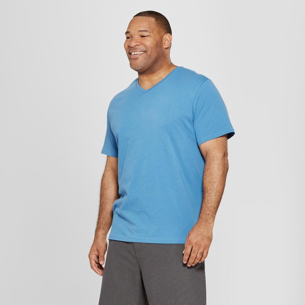 Men's Tall Short Sleeve V-Neck T-Shirt - Goodfellow & Co Blue Beam LT