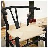 Wishbone Wood Y Chair Black Wood - Baxton Studio - image 3 of 4